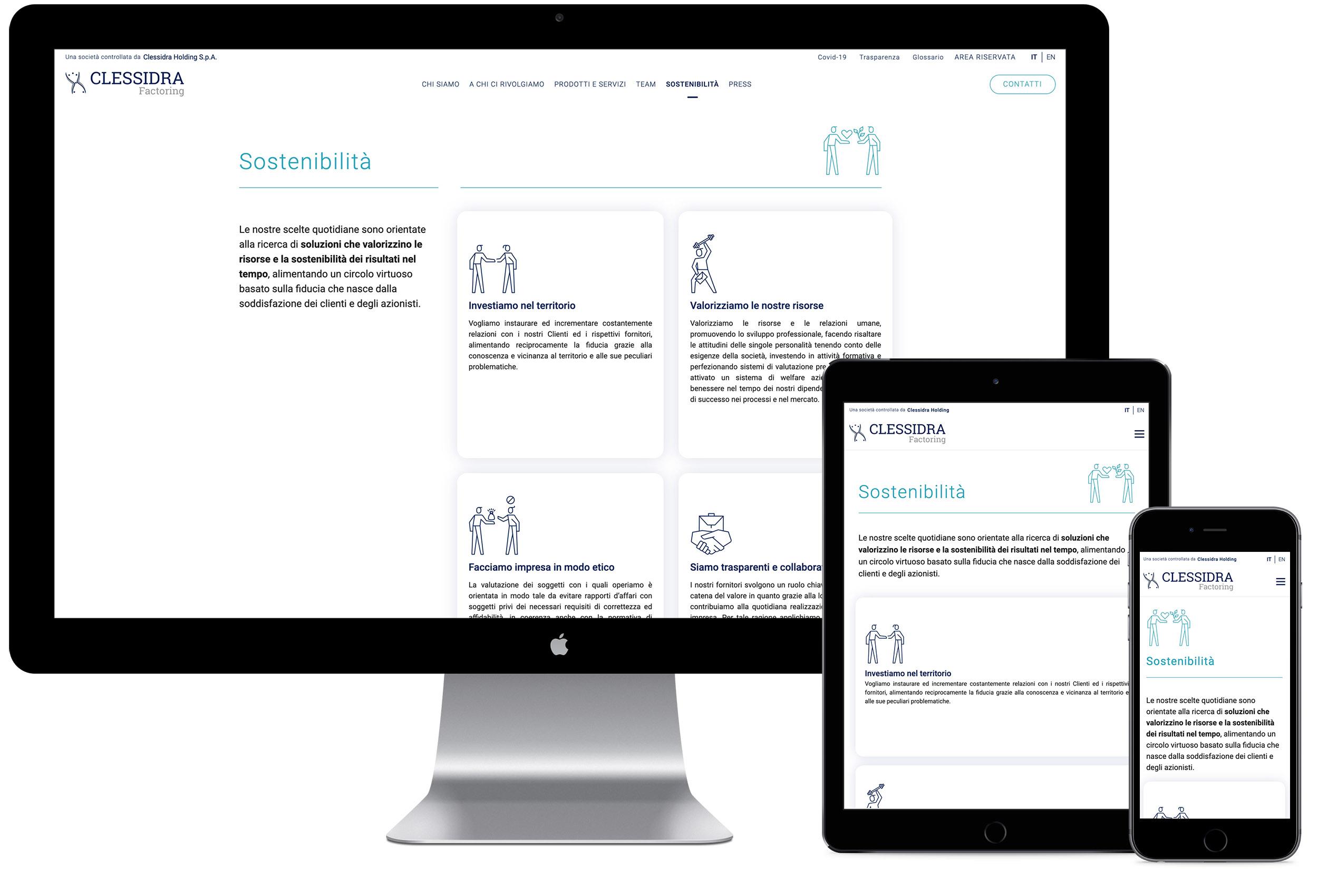 KFDS - Case Study - Clessidra Website Responsive